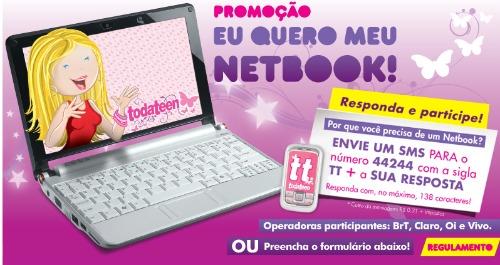 Promoção eu quero meu netbook