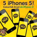 Promoo KakaoTalk sorteia 5 smartphones iPhone 5
