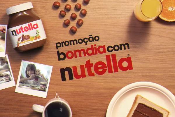 Bom dia com Nutella