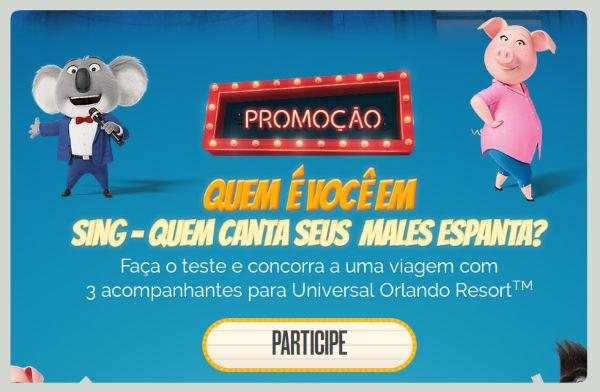 Promoção Sing Telecine