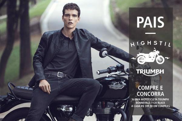 Ganhe motocicleta Triumph