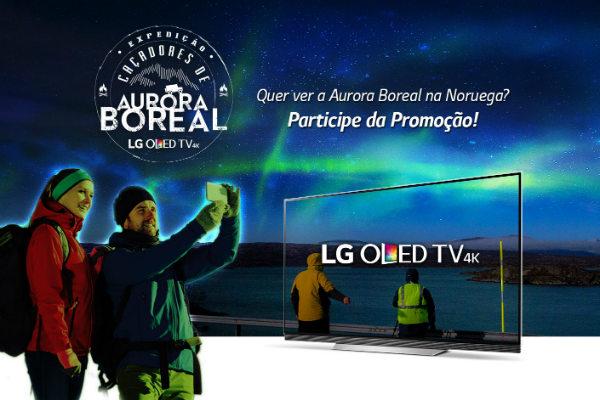 Promoção OLED LG aurora boreal