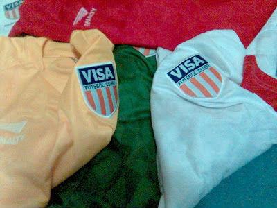 Recebi camisas do Visa