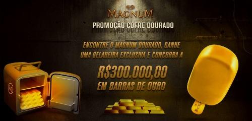 promoção magnum cofre dourado