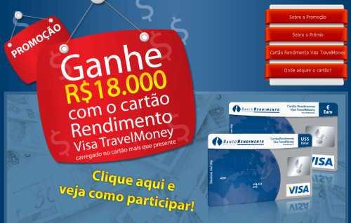 Promoção banco rendimento