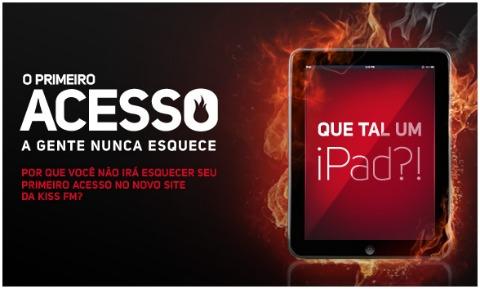 Promoção Kiss FM sorteia iPad