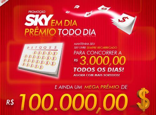 promoção sky em dia
