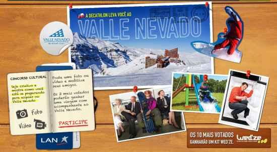 Decathlon leva você ao Valle Nevado