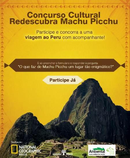 Concurso redescubra Machu Picchu