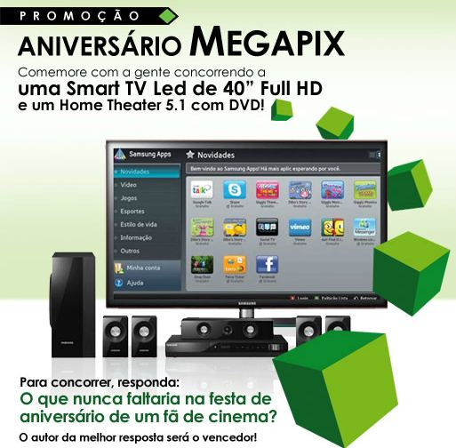 Promoção Aniversário Megapix