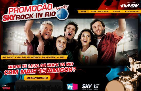Promoção Sky no Rock In Rio