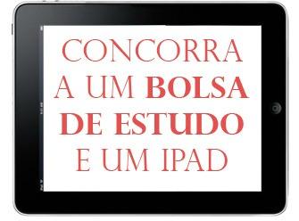 bolsa de estudo e iPad