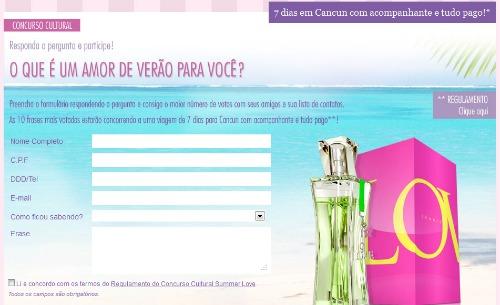 Concurso cultural summer love