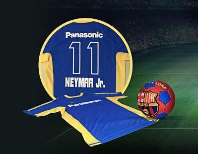 camisas panasonic Neymar Jr