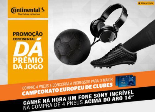 continental dá prêmio dá jogo