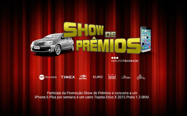 Promoção show de prêmios
