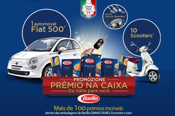 Barilla oferece carro e prêmios