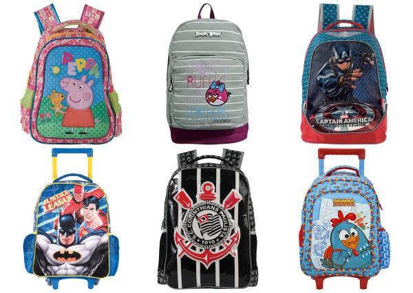 mochilas escolares com desconto