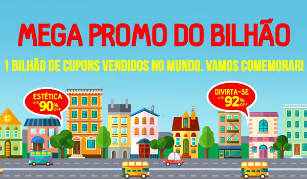Mega promoção Groupon Bilhão