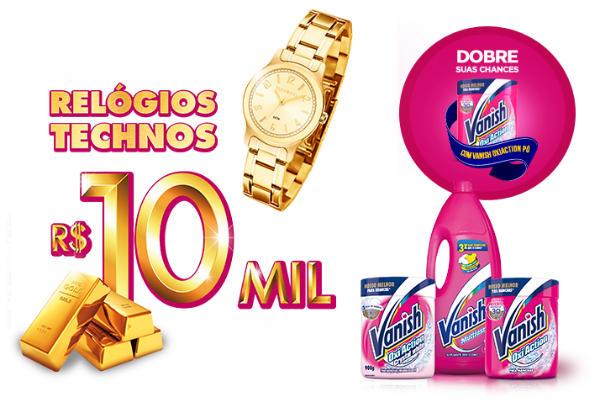 Relógios e prêmios promoção Vanish