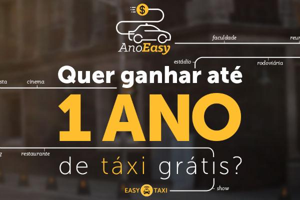 Táxi grátis promoção