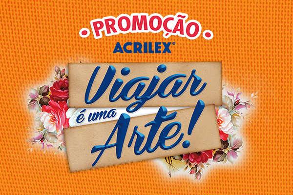 Promoção tintas Acrilex