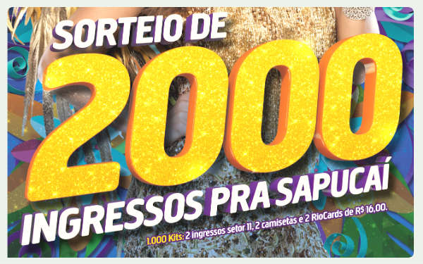 Ingressos para carnaval carioca