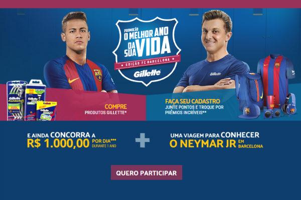 Conheça Neymar promoção Gillette