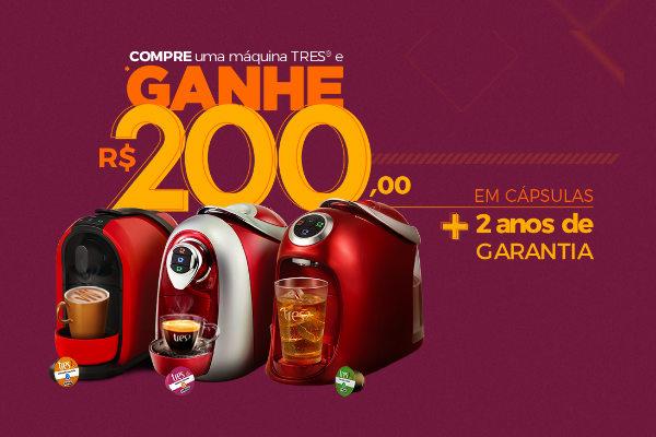 Promoção máquina café Tres
