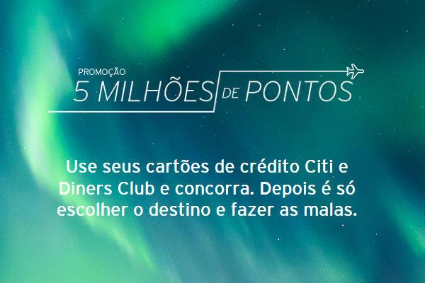 promoção citibank milhões pontos