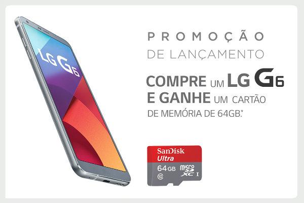 Promoção smartphone LG G6