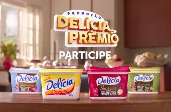 Promoção com prêmios Delícia