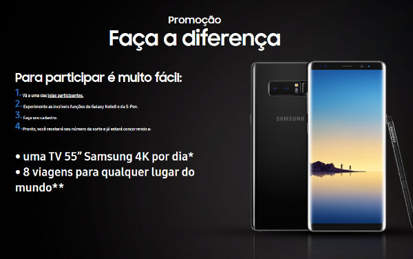 Promoção faça a diferença Samsung