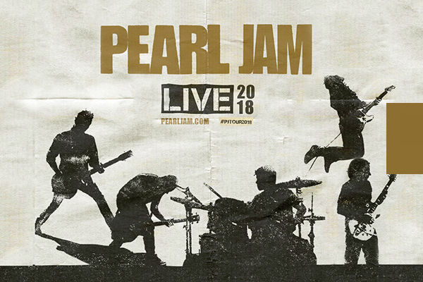 Promoção show Pearl Jam