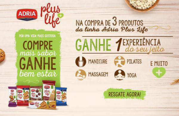 Promoção Adria Plus Life